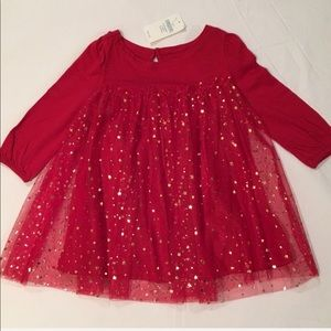 Perfect for Christmas! Red Dress with Gold Stars